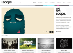 Homepage of Scope theme