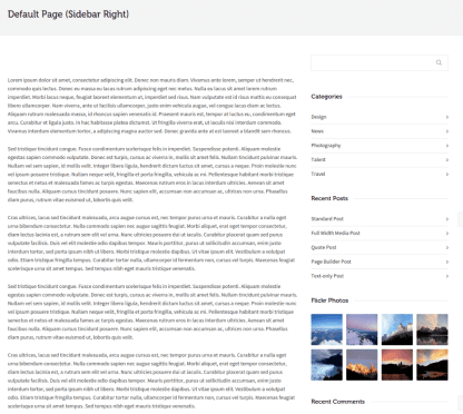 Page with right sidebar on Dante