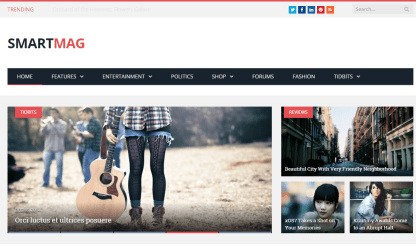 SmartMag- Front page featured with slider