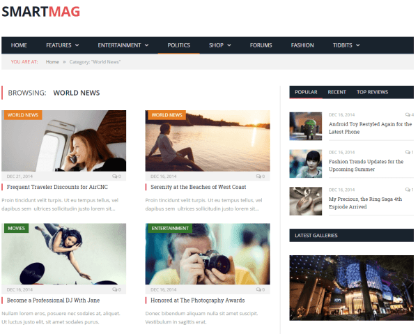 SmartMag- News page of this theme