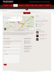 The Restaurant – contact page