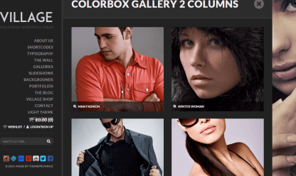 Village- Colorbox gallery with columns ranging from 2-4