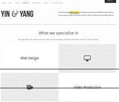 Yin & Yang- Services page built with elements