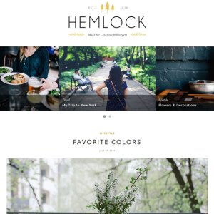 Hemlock- Featured slider for latest posts is provided with this theme. Header menu can be made fixed and scrollable.