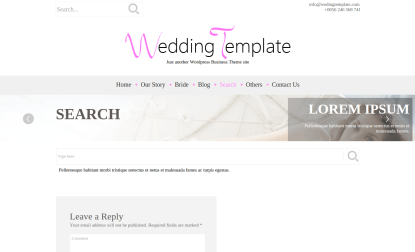 Search Page of Wedding Style