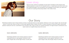 Our Story page Wedding Style