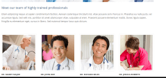 Care_team displays information of highly professional doctors