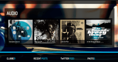 Clubber- Audio page built with this theme having attractive hovering effects