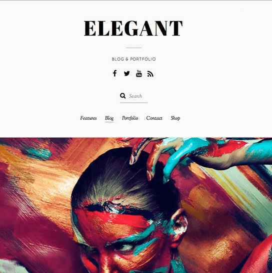 Elegant – Simple yet elegant, multipurpose theme