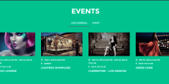 Event- Feature your upcoming and latest events on front page