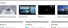 Magazine feature of Elegant theme displays the various videos.