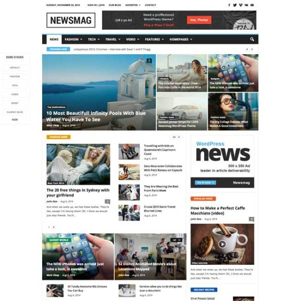 News Mag- News Magazine Newspaper
