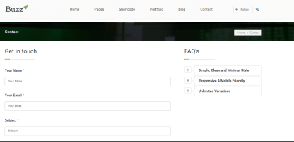 buzz blog contact page for any queries