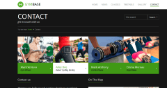 GymBase – Contact Page of your Fitness gym