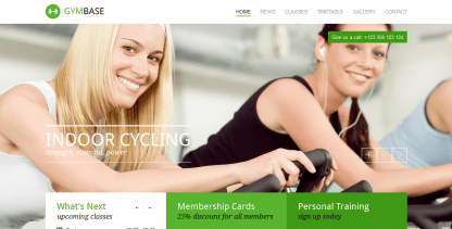 GymBase- Home page of a fitness site