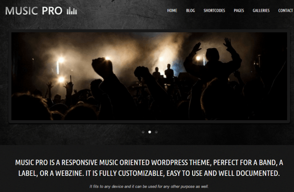Music pro- Music Oriented WordPress Theme
