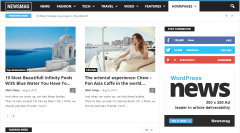 News Mag- Blog page of news site with right sidebar
