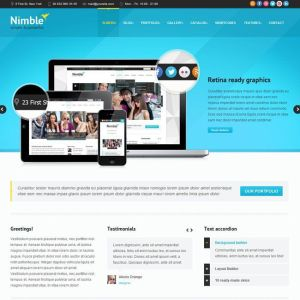 Nimble-Multipurpose Retina Ready WordPress Theme