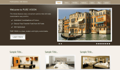 PureVISION- One of the slider supported by this theme with elements displaying content in 3 column layout