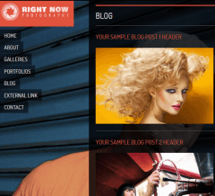 Right Now-  Blog Page with unique layout provided by Right Now Theme