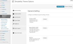 SimpleKey- Admin Settings provided by SimpleKey