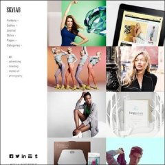 Skylab- Portfolio page designed having amazing hover effects