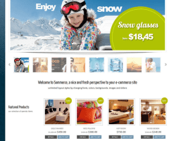 Sommerce Shop- First layout for shop page of woocommerce site with Sommerce Shop Theme