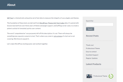 About us page of Lawyeria Lite theme