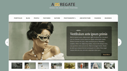 Agreegate- Home page featured slider with thumbnails