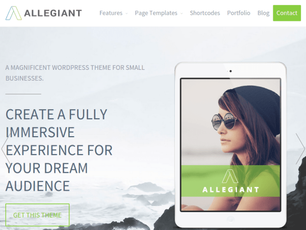Allegiant - WordPress Theme