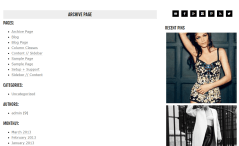 Archive page of Runway Pro theme