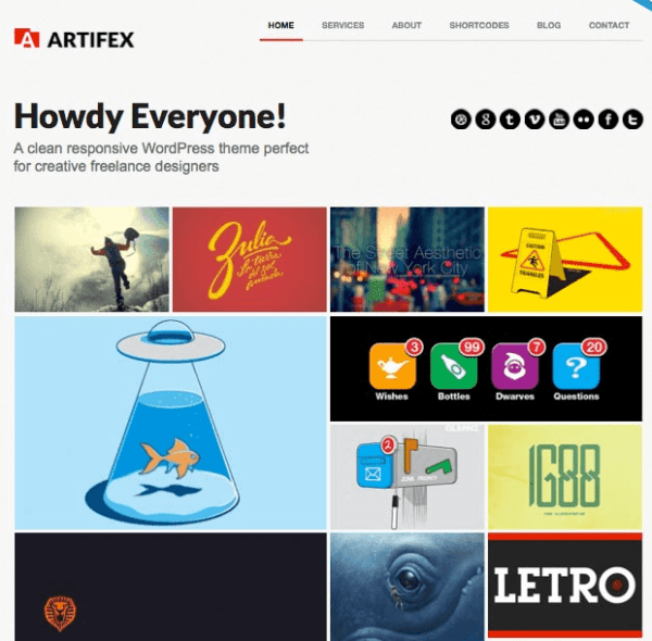 Artifex Pro- A responsive Portfolio theme for WordPress
