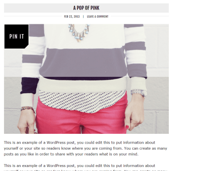 Blog page of Runway Pro theme (2)