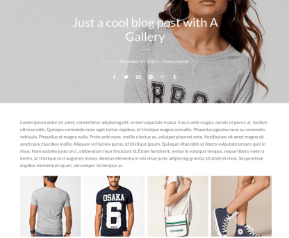 Blog with big featured image