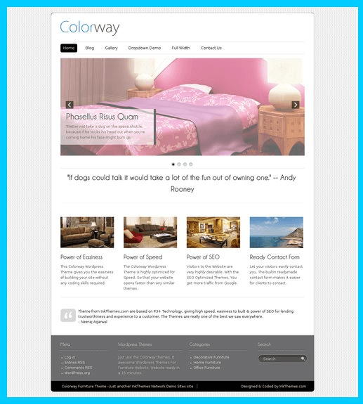 ColorWay - Attractive Responsive WordPress theme
