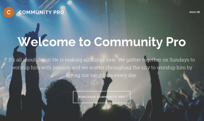Community Pro Home Page