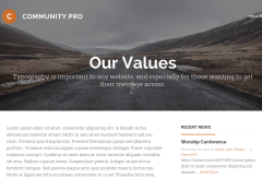 Community Pro Values Page