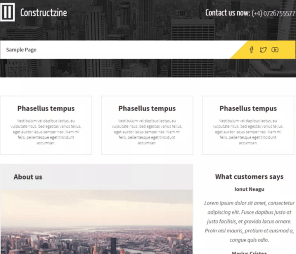 Constructzine Lite - Small Business WordPress theme used for construction mostly