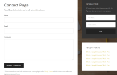 Contact page of Agency Pro theme