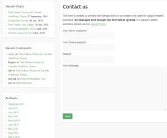 Contact us page of Travelify theme