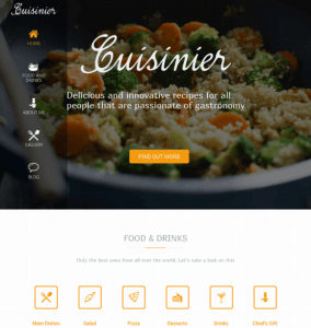 Cuisiner is a blogfood WordPress theme,