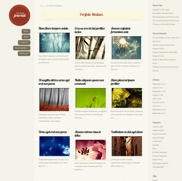 DailyJournal – fully responsive personal blog.