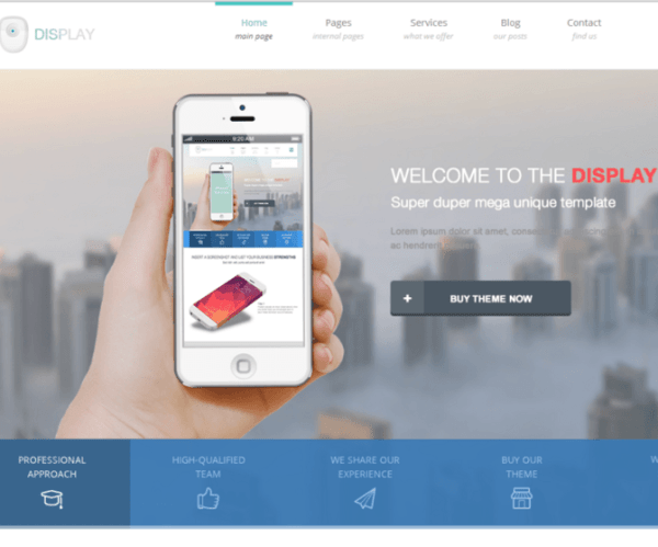 Display – Creative WordPress theme with clean, modern and responsive design