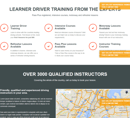 Driving School Pro- Page built with shortcodes of Composer