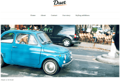 Duet- Front page designed with featured slider