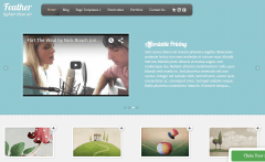 Feather- Front page built with slideshow and other shortcodes