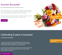 Florists Pro- Sections built with  visual composer plugin