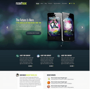 Fusion - Simple and professional business layout theme