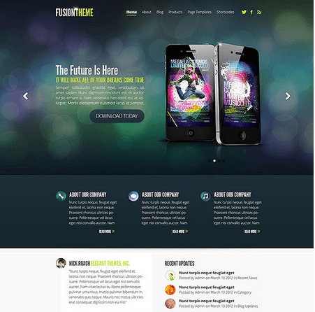 Fusion – Simple and professional business layout theme
