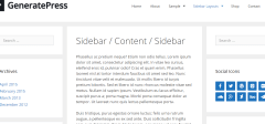 GeneratePress theme showing blog layout